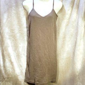 Free People Dusty Lavender Sparkly Slip Dress, M/L